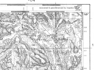Reduced fragment of topographic map pl--wig--100k--P53S33--(1935)--N049-00_E021-20--N048-45_E021-50