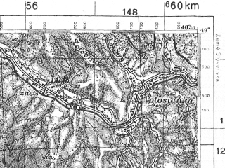 Reduced fragment of topographic map pl--wig--100k--P53S35--(1935)--N049-00_E022-20--N048-45_E022-50; towns and cities Stavnoye, Velikiy Bereznyy, Volosyanka