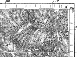 Reduced fragment of topographic map pl--wig--100k--P56S38--(1938)--N048-15_E023-50--N048-00_E024-20; towns and cities Rakhov, Dubovoye, Krasna, Kvasy, Belin