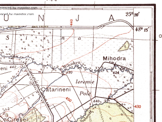 Reduced fragment of topographic map pl--wig--100k--P56S40--(1933)--N048-15_E024-50--N048-00_E025-20; towns and cities Rostoki, Golovy, Krivorovnya