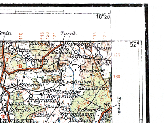Reduced fragment of topographic map pl--wig--300k--63--(1935)--N052-00_E016-20--N051-00_E018-20; towns and cities Wroclaw, Ostrow Wielkopolski, Leszno, Krotoszyn, Olesnica