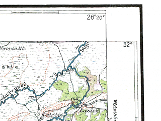 Reduced fragment of topographic map pl--wig--300k--67--(1933)--N052-00_E024-20--N051-00_E026-20; towns and cities Kovel', Ratno, Kamen'-kashirskiy, Vladimirets, Derevok