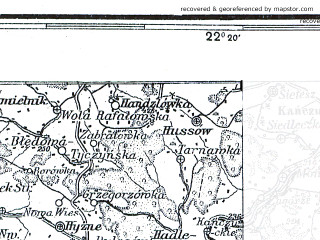 Reduced fragment of topographic map pl--wig--300k--85--(1934)--N050-00_E020-20--N049-00_E022-20; towns and cities Nowy Sacz, Krosno, Bochnia, Sanok, Krosno Odrzanskie