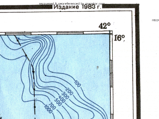 Reduced fragment of topographic map ru--gs--001m--d37--(1983)--N016-00_E036-00--N012-00_E042-00 in area of Zula Bahir Selat'e, Afrera Ye Che'ew Hayk'; towns and cities Asmera, Agbe, Hamusit, Shero