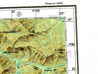 Reduced fragment of topographic map ru--gs--001m--l53--N048-00_E132-00--N044-00_E138-00 in area of Hor, Bikin; towns and cities Arsen'yev, Spassk-dal'niy, Dal'nerechensk, Lesozavodsk, Pereyaslavka