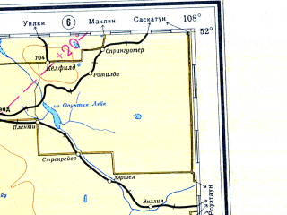 Download topographic map in area of Calgary Medicine Hat