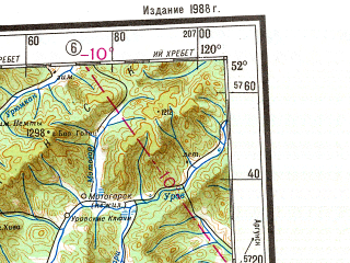 Reduced fragment of topographic map ru--gs--001m--m50--N052-00_E114-00--N048-00_E120-00 in area of Hulun Nur, Ozero Barun-torej, Ozero Zun-torej; towns and cities Krasnokamensk, Borzya, Baley, Karymskoye, Sherlovaya Gora