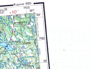 Reduced fragment of topographic map ru--gs--001m--p35_36--N064-00_E024-00--N060-00_E036-00 in area of Saimaa, Lake Ladoga, Ozero Vygozero; towns and cities Helsinki, Petrozavodsk, Espoo, Vantaa, Lappeenranta