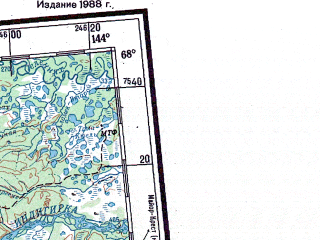 Reduced fragment of topographic map ru--gs--001m--q53_54--N068-00_E132-00--N064-00_E144-00 in area of El'gi, Nera, Uol'can; towns and cities Batagay, Ust'-nera, Ikki-ambar, Sylgy-meyite, Kysyl-khaya
