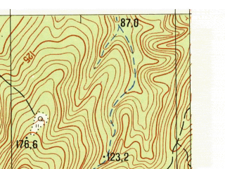 Reduced fragment of topographic map ru--gs--025k--l37-126-2-1--N044-40_E038-45-00--N044-35_E038-52-30