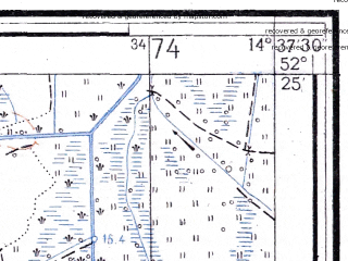 Reduced fragment of topographic map ru--gs--025k--n33-126-3-3--(1956)--N052-25_E014-30-00--N052-20_E014-37-30; towns and cities Slubice