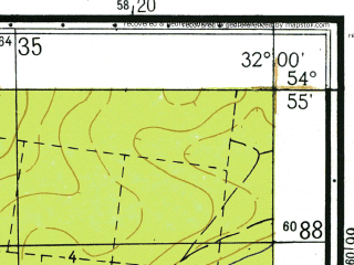 Reduced fragment of topographic map ru--gs--025k--n36-040-2-4--(1967)--N054-55_E031-52-30--N054-50_E032-00-00