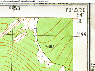 Reduced fragment of topographic map ru--gs--025k--n45-059-4-1--(1988)--N054-30_E089-15-00--N054-25_E089-22-30