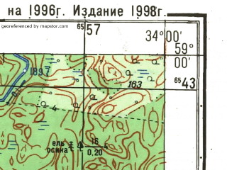 Reduced fragment of topographic map ru--gs--025k--o36-044-2-2--N059-00_E033-52-30--N058-55_E034-00-00; towns and cities Antisferovo