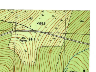 Reduced fragment of topographic map ru--gs--025k--o40-011-3-4--N059-45_E059-07-30--N059-40_E059-15-00