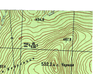 Reduced fragment of topographic map ru--gs--025k--o40-035-1-4--N059-15_E059-07-30--N059-10_E059-15-00
