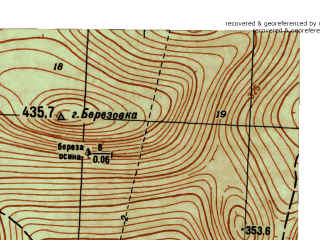 Reduced fragment of topographic map ru--gs--025k--o40-035-2-2--N059-20_E059-22-30--N059-15_E059-30-00