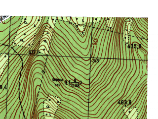 Reduced fragment of topographic map ru--gs--025k--o40-035-3-2--N059-10_E059-07-30--N059-05_E059-15-00