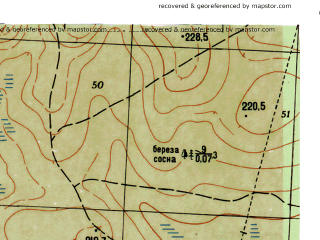 Reduced fragment of topographic map ru--gs--025k--o40-036-2-3--N059-15_E059-45-00--N059-10_E059-52-30