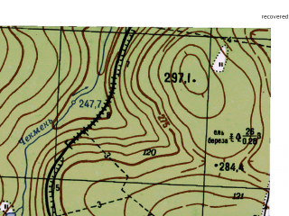 Reduced fragment of topographic map ru--gs--025k--o40-059-2-4--N058-35_E059-22-30--N058-30_E059-30-00