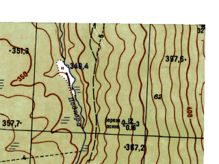 Reduced fragment of topographic map ru--gs--025k--o40-059-3-4--N058-25_E059-07-30--N058-20_E059-15-00