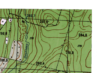 Reduced fragment of topographic map ru--gs--025k--o40-071-2-2--N058-20_E059-22-30--N058-15_E059-30-00