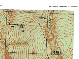 Reduced fragment of topographic map ru--gs--025k--o40-082-4-3--N057-45_E058-45-00--N057-40_E058-52-30