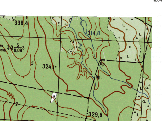 Reduced fragment of topographic map ru--gs--025k--o40-083-4-1--N057-50_E059-15-00--N057-45_E059-22-30