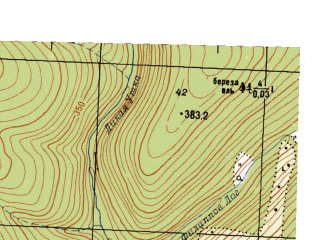 Reduced fragment of topographic map ru--gs--025k--o40-094-1-3--N057-35_E058-30-00--N057-30_E058-37-30