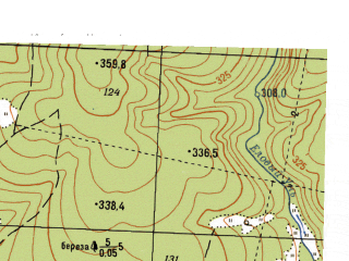 Reduced fragment of topographic map ru--gs--025k--o40-094-3-2--N057-30_E058-37-30--N057-25_E058-45-00
