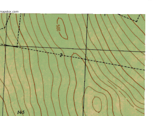 Reduced fragment of topographic map ru--gs--025k--o40-096-3-3--N057-25_E059-30-00--N057-20_E059-37-30