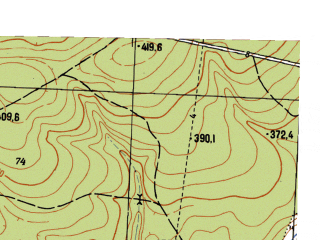 Reduced fragment of topographic map ru--gs--025k--o40-106-4-2--N057-10_E058-52-30--N057-05_E059-00-00