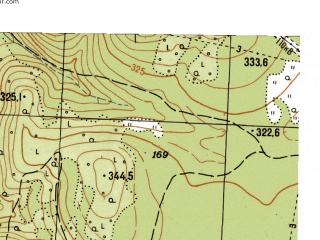 Reduced fragment of topographic map ru--gs--025k--o40-107-3-4--N057-05_E059-07-30--N057-00_E059-15-00