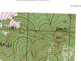 Reduced fragment of topographic map ru--gs--025k--o40-117-1-4--N056-55_E058-07-30--N056-50_E058-15-00