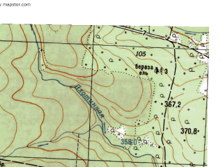 Reduced fragment of topographic map ru--gs--025k--o40-119-3-3--N056-45_E059-00-00--N056-40_E059-07-30
