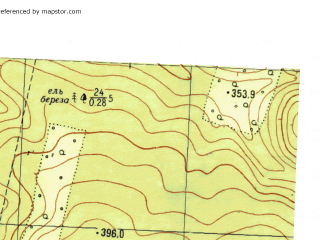Reduced fragment of topographic map ru--gs--025k--o40-127-2-2--N056-40_E057-22-30--N056-35_E057-30-00