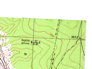Reduced fragment of topographic map ru--gs--025k--o40-127-4-1--N056-30_E057-15-00--N056-25_E057-22-30