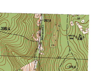 Reduced fragment of topographic map ru--gs--025k--o40-129-2-2--N056-40_E058-22-30--N056-35_E058-30-00
