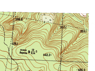 Reduced fragment of topographic map ru--gs--025k--o40-130-1-4--N056-35_E058-37-30--N056-30_E058-45-00