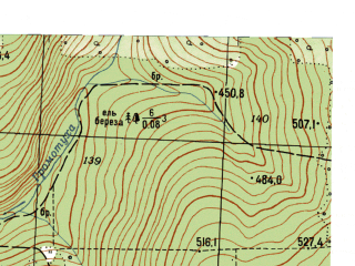 Reduced fragment of topographic map ru--gs--025k--o40-131-4-3--N056-25_E059-15-00--N056-20_E059-22-30