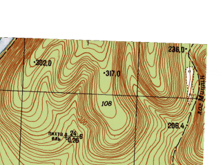 Reduced fragment of topographic map ru--gs--025k--o40-140-3-2--N056-10_E057-37-30--N056-05_E057-45-00