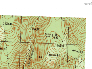Reduced fragment of topographic map ru--gs--025k--o40-140-4-1--N056-10_E057-45-00--N056-05_E057-52-30