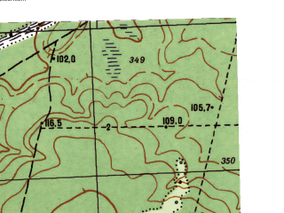 Reduced fragment of topographic map ru--gs--025k--o41-027-4-4--N059-05_E061-22-30--N059-00_E061-30-00