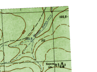 Reduced fragment of topographic map ru--gs--025k--o41-031-3-4--N059-05_E063-07-30--N059-00_E063-15-00