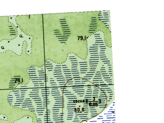 Reduced fragment of topographic map ru--gs--025k--o41-032-1-4--N059-15_E063-37-30--N059-10_E063-45-00