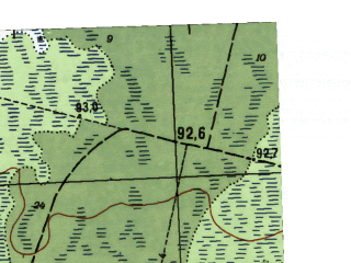 Reduced fragment of topographic map ru--gs--025k--o41-041-1-3--N058-55_E062-00-00--N058-50_E062-07-30
