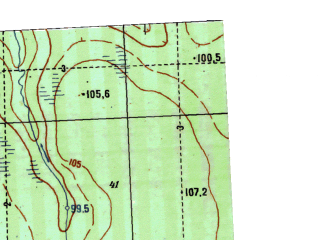 Reduced fragment of topographic map ru--gs--025k--o41-043-2-3--N058-55_E063-15-00--N058-50_E063-22-30