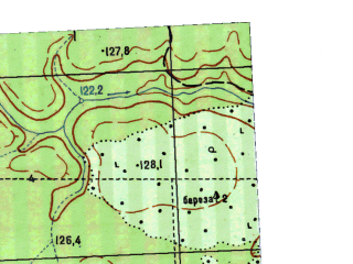Reduced fragment of topographic map ru--gs--025k--o41-043-3-2--N058-50_E063-07-30--N058-45_E063-15-00