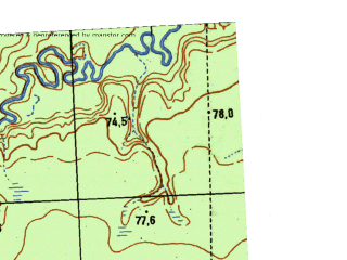 Reduced fragment of topographic map ru--gs--025k--o41-044-4-1--N058-50_E063-45-00--N058-45_E063-52-30