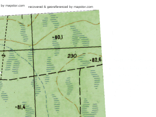 Reduced fragment of topographic map ru--gs--025k--o41-045-1-2--N059-00_E064-07-30--N058-55_E064-15-00